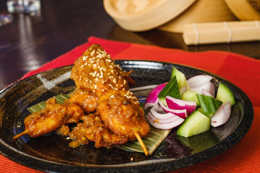 Malay Chicken Satay Skewers